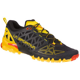 La Sportiva Bushido II Trail Running Shoes Herre black/yellow